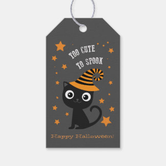 Halloween Tags with Black Cat Pack Of Gift Tags