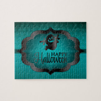Halloween teal ghost puzzle