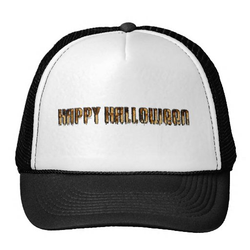 Halloween Text Burnt Drippy Text Image Hats