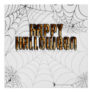 Halloween Text Burnt Drippy Text Image Poster