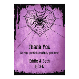 Halloween Thank You card with spider