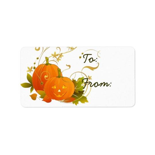 Halloween & Thanksgiving  Gift Tag