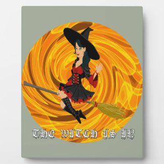 Halloween the witch is in plaque