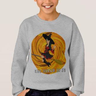 Halloween the witch is in sweatshirt
