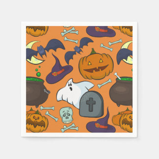 Halloween theme paper napkins