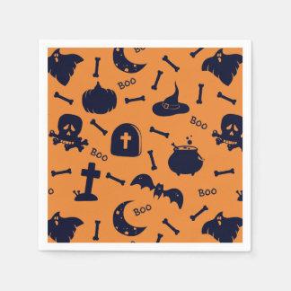Halloween theme paper napkins