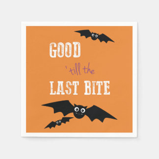 Halloween Themed Napkins with Bats Paper Napkins