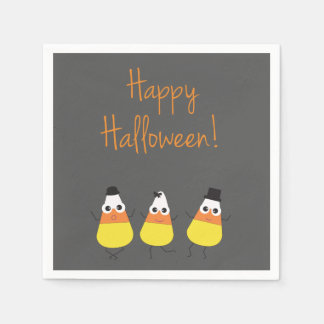 Halloween Themed Napkins with Candy Corn