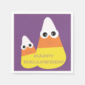 Halloween Themed Napkins with Candy Corn Disposable Napkin