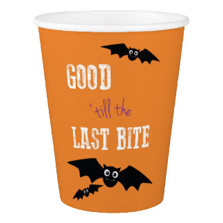 Halloween Themed Party Cups with Bats