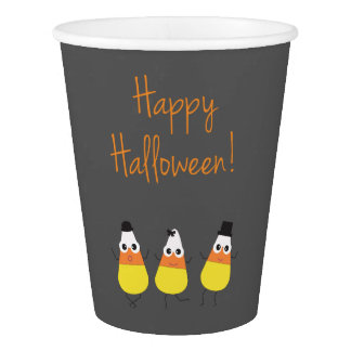 Halloween Themed Party Cups with Candy Corn
