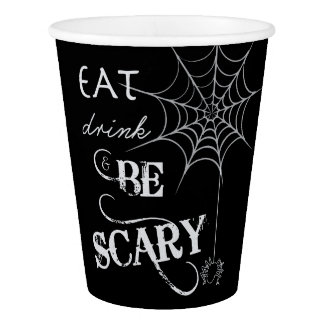 Halloween Themed Party Cups with Spider Web