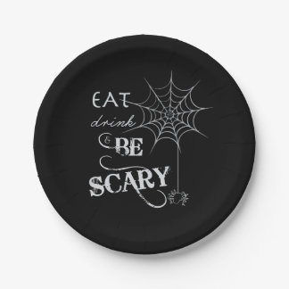 Halloween Themed Plates | Eat Drink and Be Scary 7 Inch Paper Plate