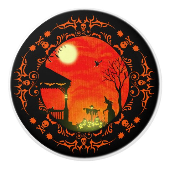 Halloween themed witchy cabinet /furniture knobs ceramic knob