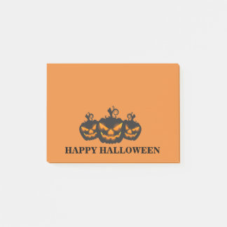 Halloween Three  Angry Pumpkin Post-it Notes