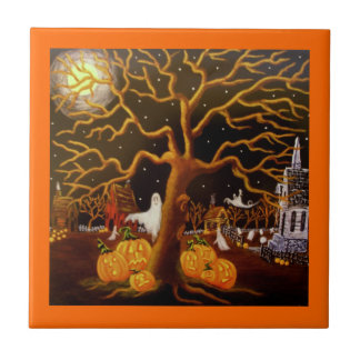 Halloween ,tile,ghosts,Jack-O-Lantern,graveyard Tile