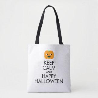 Halloween Tote Bag: Keep Calm and Happy Halloween