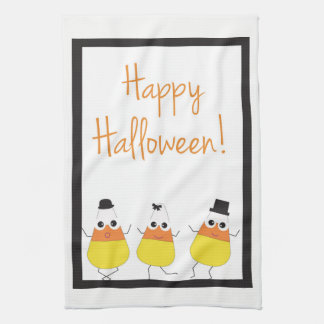 Halloween Towel | Happy Halloween with Candy Corn