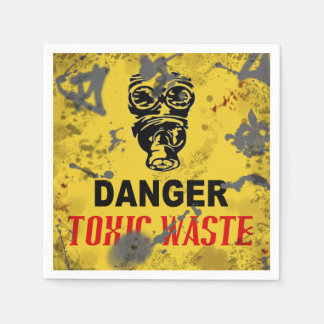 Halloween Toxic Waste Zombie Apocalypse Paper Napkins
