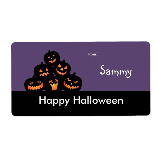 Halloween Treat Bag Label