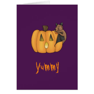 Halloween Treat Bat Card