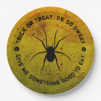 Halloween Treat or Trick Spider Blood Paper Plates