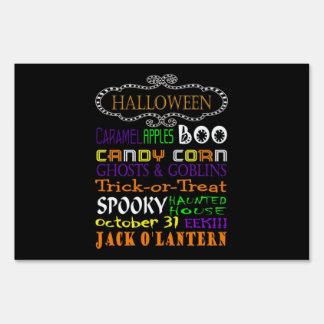 Halloween Treats And Frights Sign