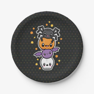 Halloween Treats paper plates
