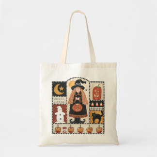 Halloween Treats Please Witch Pumpkin Tote Bag