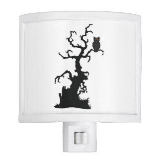 Halloween Tree and Owl Night Light