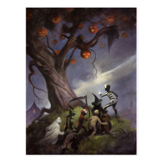 Halloween Tree Postcard