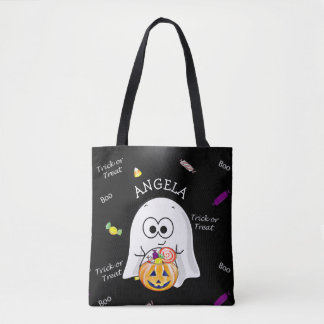 Halloween Trick or Treat Bag with Ghost &  Pumpkin