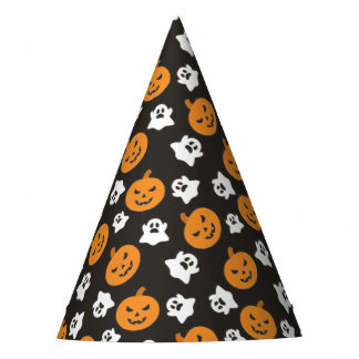 Halloween Trick or Treat Cute Ghosts & Pumpkins Party Hat