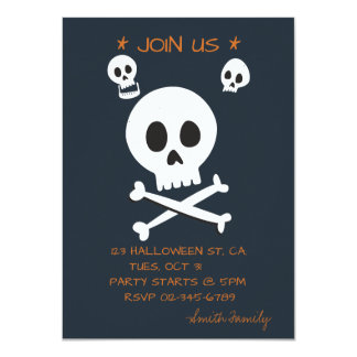Halloween Trick or Treat Cute Skulls. Card