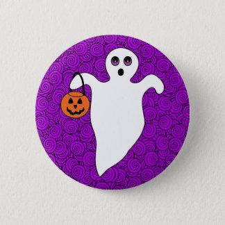 Halloween Trick-or-Treat Ghost 2 Inch Round Button