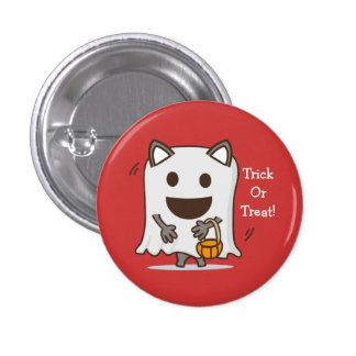 Halloween Trick or Treat Ghost button