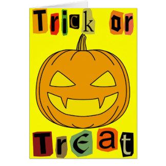 Halloween Trick or Treat Greeting Card