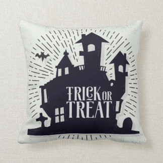 Halloween Trick Or Treat Haunted House | Pillow