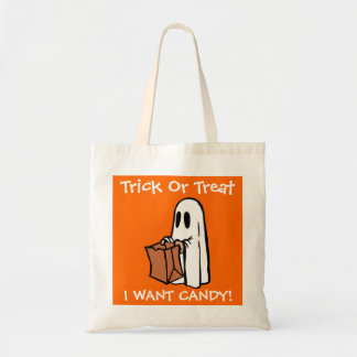 Halloween Trick Or Treat I Want Candy Ghost