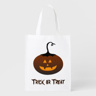Halloween Trick or Treat Jack O Lantern Pumpkin Market Totes