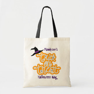 Halloween Trick or Treat Personalized Tote Bag