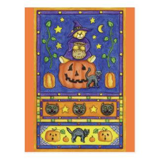 Halloween trick or Treat Postcard
