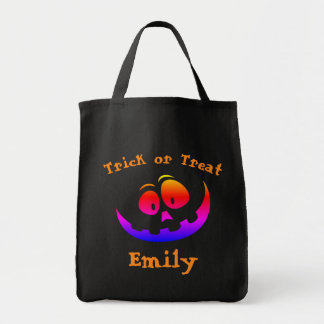 Halloween Trick or Treat Pumpkin Candy Tote Bag