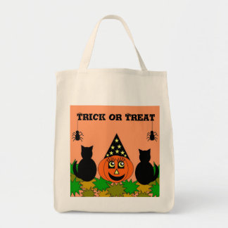 Halloween Trick or Treat Sack Tote Bag