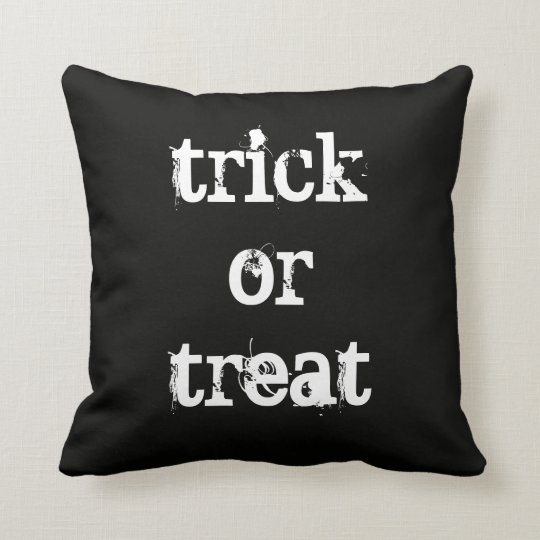 Halloween Trick or Treat Throw Pillow