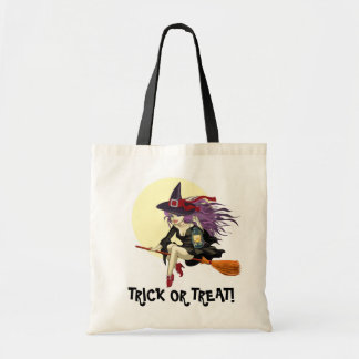 Halloween TRICK OR TREAT Tote Budget Tote Bag