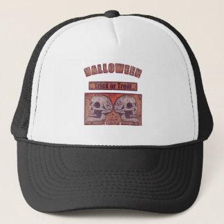 Halloween -Trick Or Treat Worn Trucker Hat