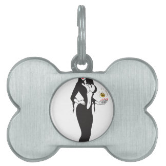 halloween vamp witch pet ID tags