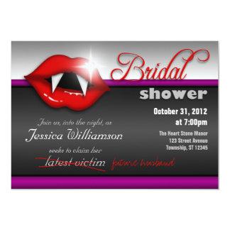 Halloween Vampire Bridal Shower Invitations