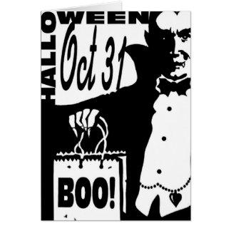 Halloween Vampire Card
